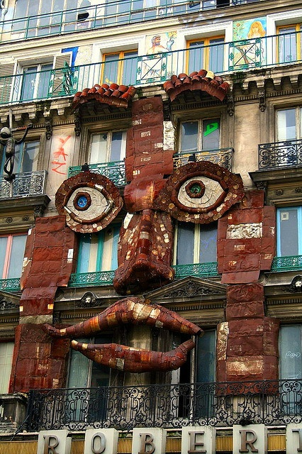 Only in Paris...will a building smile for YOU...