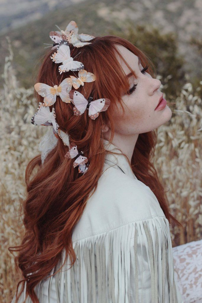 ☾ ☆☽ Pastel hues come together to create this magical butterfly crown. Complete with four hair clips and an optional lace ribbon closure in the back for an adjustable fit. Lightweight and perfect for
