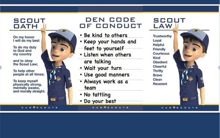 How do you make den discipline a source of pride, growth, and fun, instead of a cause of leader burnout? Make a Den Code of Conduct.