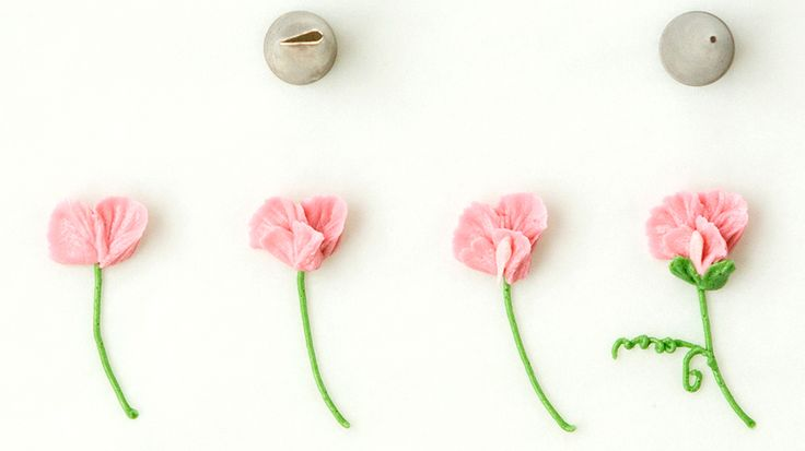 how to make sweet pea flowers with icing