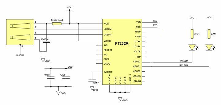 Преобразователь USB-UART на FTDI FT232RL | Электроника для всех