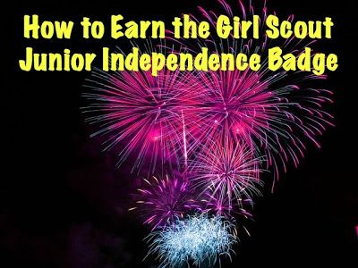 How to Earn the Junior Girl Scout Independence Badge