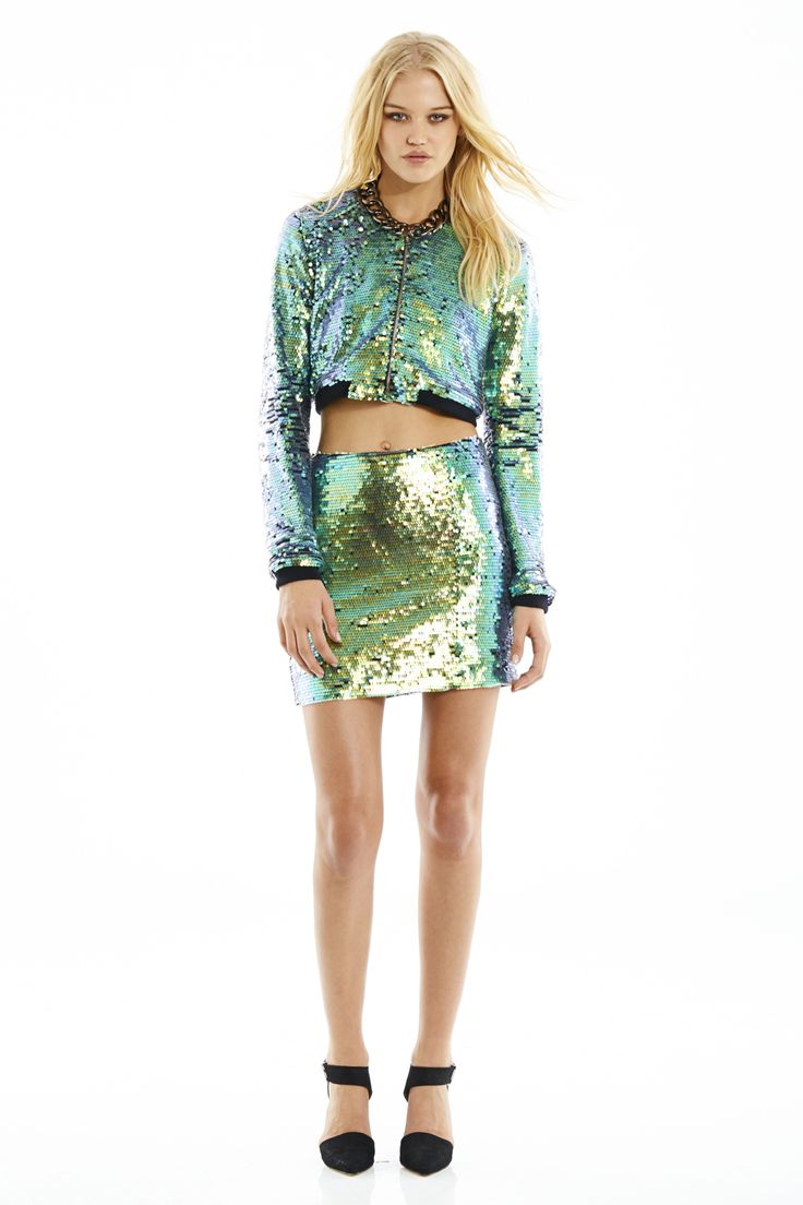NOOKIE Galactica Bomber Jacket and Galactica Mini Skirt #Nookie #Weownthenight #2013