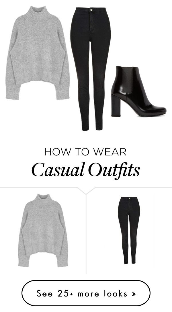 """Casual outfit"" by thefirepink on Polyvore featuring Topshop, Yves Saint Laurent, women's clothing, women, female, woman, misses and juniors"