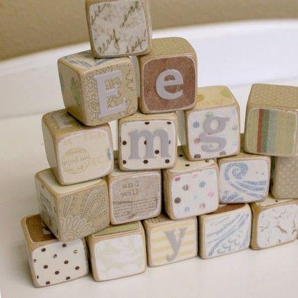 Image detail for -Vintage Nursey Blocks (set of 6)-Baby toys