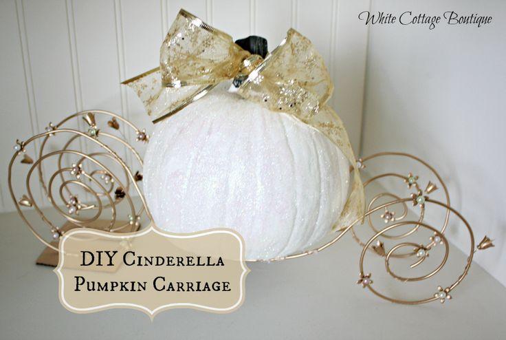 DIY Cinderella Pumpkin Carriage Tutorial - White Cottage Boutique   White Cottage Boutique