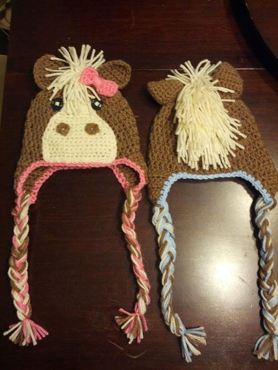 Horse Crochet Hat by jetaimeboutique83406 on Etsy, $15.00