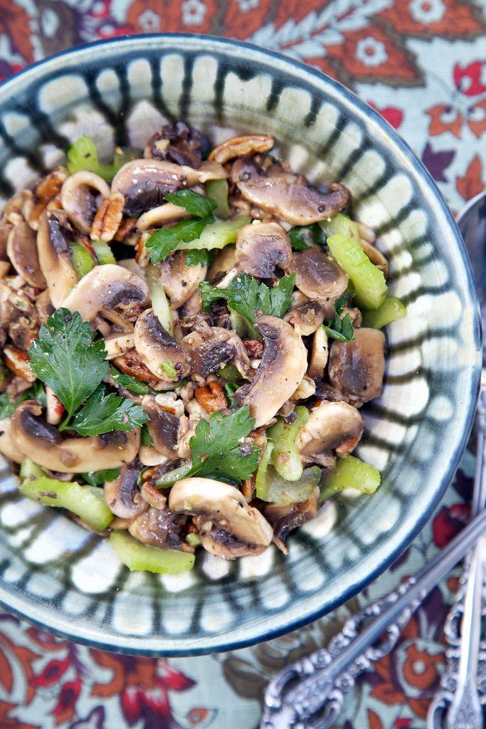 Marinated Raw Mushroom Salad Recipe