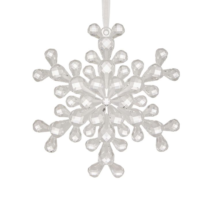 BuyJohn Lewis Winter Palace Large Acrylic Snowflake Bauble, Clear Online at johnlewis.com