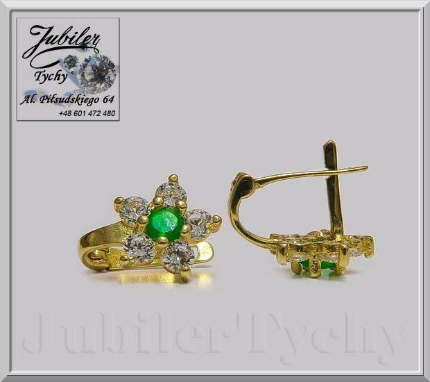 Firma Jubilerska, al. Piłsudskiego 64, 43-100 Tychy, Polska, www.jubilertychy.pl tel. +48 601 472 480 / #Złote #Kolczyki #Cyrkonie #Szmaragdy #Jubiler #Tychy #Gold #jeweller #złotnik #Au585 #Złoto   #Szmaragd   #Złota   #Biżuteria   #Cyrkonia