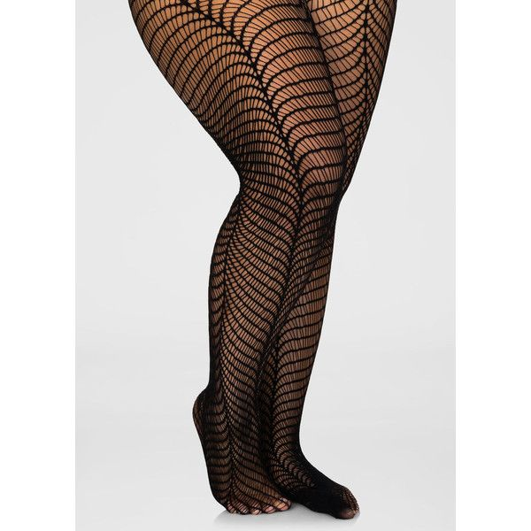 Ashley Stewart Wavy Net Footed Tights ($13) ❤ liked on Polyvore featuring intimates, hosiery, tights, plus size tights, plus size womens tights, net stockings, plus size pantyhose and net tights