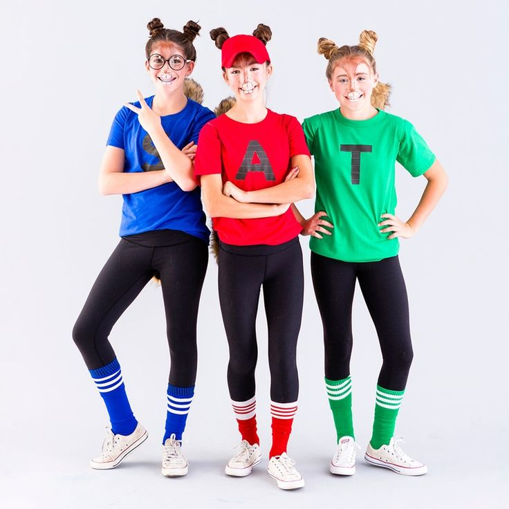 This DIY Chipmunks group costume is perfect for tweens.