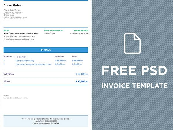 Top 10 Best Free Professional Invoice Template Designs In Ai Psd Format Invoice Design Template Invoice Template Template Design