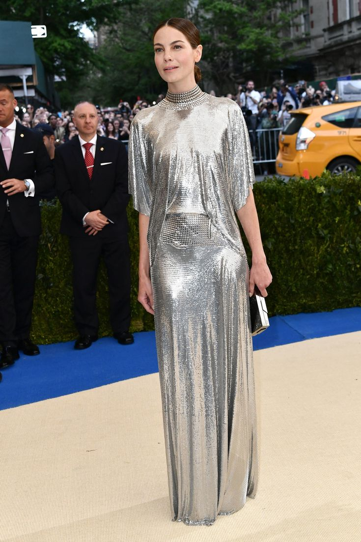 Met Gala 2017 Red Carpet Michelle Monaghan in Paco Rabanne, Lee Savage clutch, and Cartier jewelry