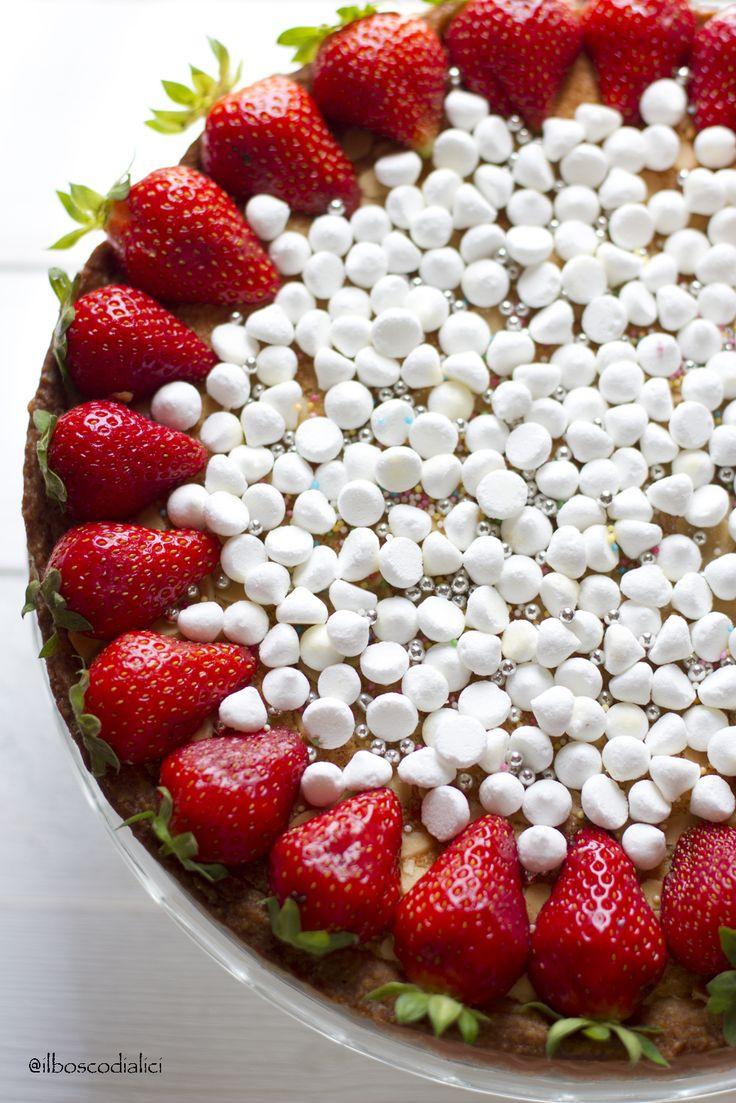 il bosco di alici: Torta frangipane al cioccolato.......quando una torta da credenza si crede una regina