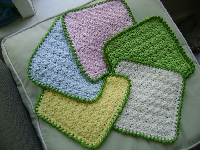 Crochet Baby Washcloth Pattern : 17 Best images about Crochet Wash Cloth on Pinterest ...