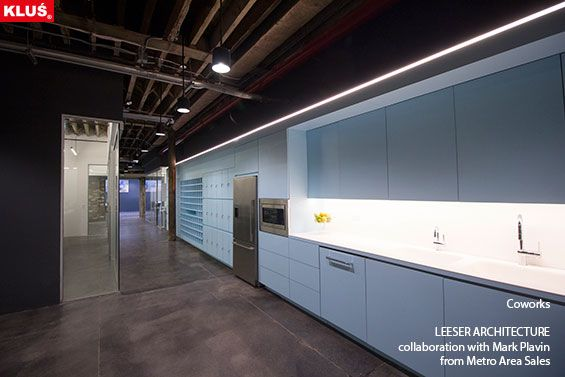 KLUS lighting composition with the use of HR-LINE profile, brings the space unique and modern look.