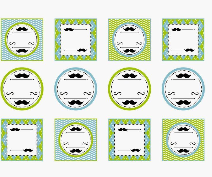 Kit Mostacho para Imprimir Gratis. | Ideas y material gratis para fiestas y celebraciones Oh My Fiesta!