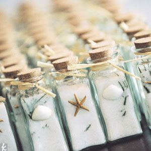 Already decided we are doing sea-salt wedding favors, just need to decide on presentation!