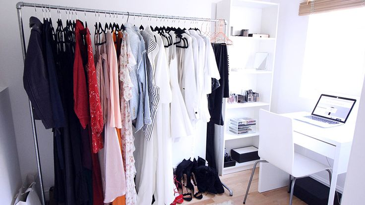 """27 Ways to Organize Your Closet: divide what you own into three categories: """"Heroes,"""" the foundation of your wardrobe, """"Empty Hangers,"""" or essential styling pieces, and a """"Pass-it-On Pile"""" of clothing and accessories that you don't wear or no longer suit your lifestyle."""