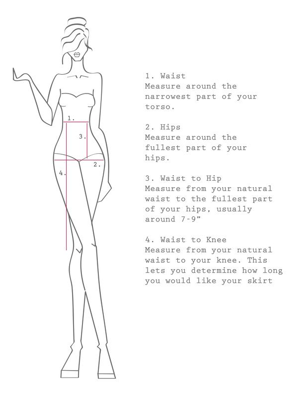 How to draft a basic pencil skirt