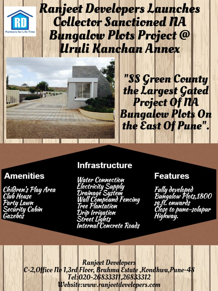 Ranjeet Developers Launches Collector Sanctioned NA Bungalow Plots Project @Uruli Kanchan Annex