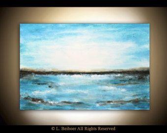 Grand art abstrait peinture texturée peinture peinture à