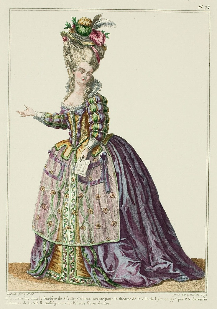 Dress of Rosine in the Barber of Seville; costume invented for the theater of the City of Lyon in 1775 by P. N. Sarrazin, Costumer to Their Royal Highnesses the Princes, Brothers of the King. (1779)