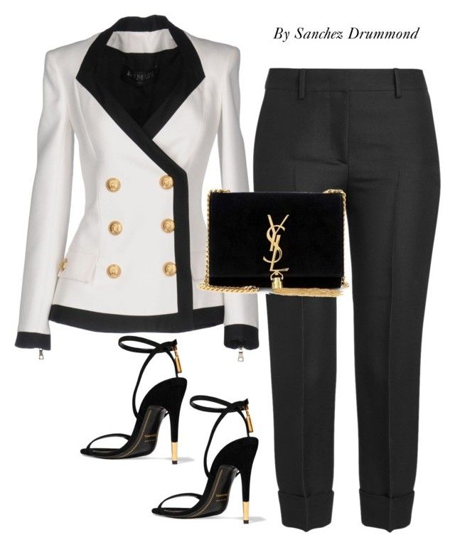 """""""Untitled #632"""" by sanchez-drummond ❤ liked on Polyvore featuring Balmain, Tom Ford, Emilio Pucci and Yves Saint Laurent"""