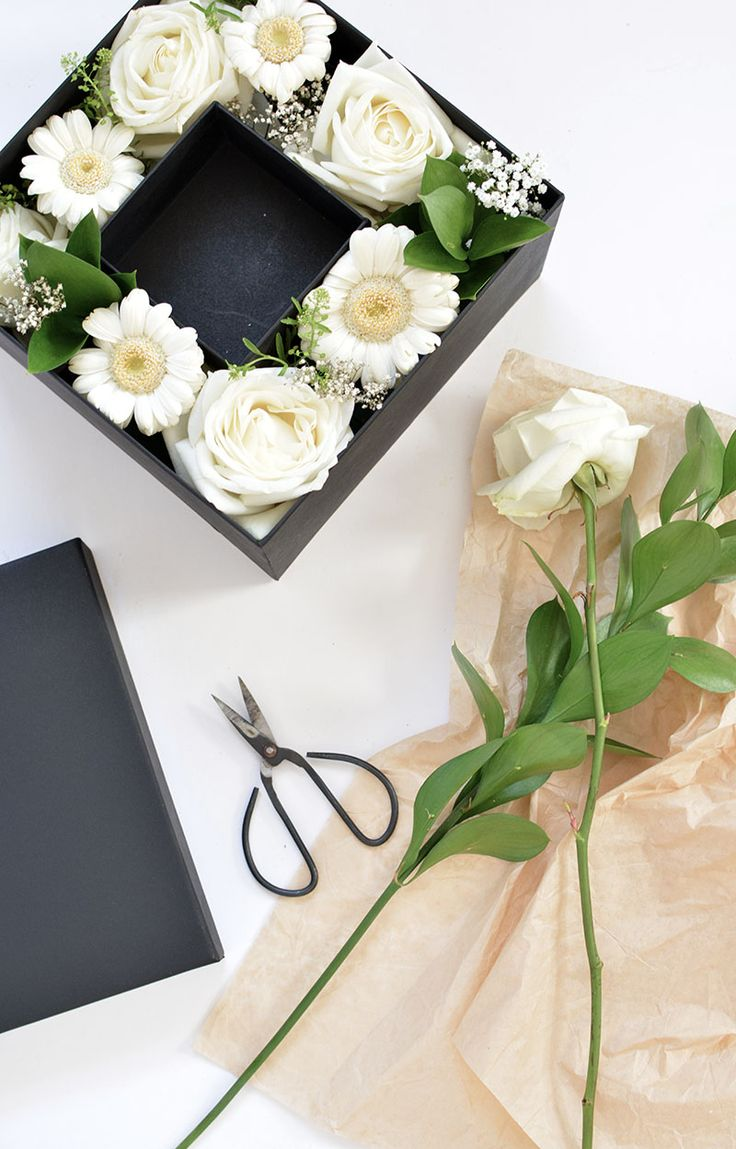 gift idea DIY boxed flowers