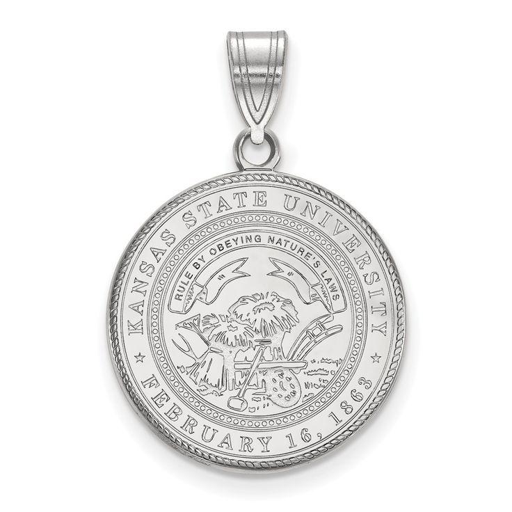 Sterling Silver LogoArt Kansas State University Large Crest