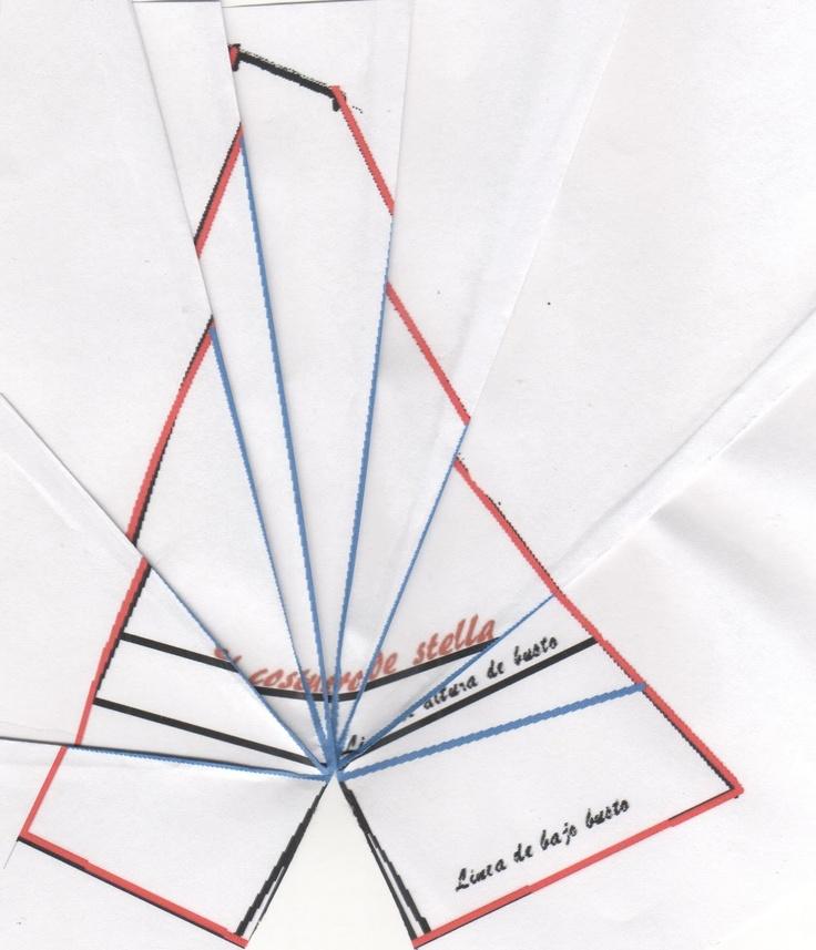 Vestido copa drapeada paso 2 | El costurero de Stella: Copa Drapeado, De Star, Sewing, Copa Drapeada, Vestido Copa, Sewing Kit, Cut, Costura Sewing