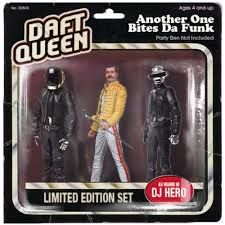 Daft Punk and Freddie Mercury figures! [Daft Queen - Another One Bites Da Funk]