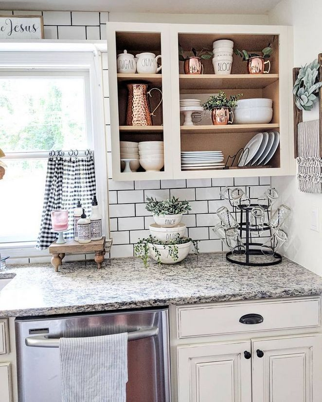 37 black and white farmhouse kitchen decor counter tops a brief introduction 51 farmhouse on farmhouse kitchen black and white id=43762