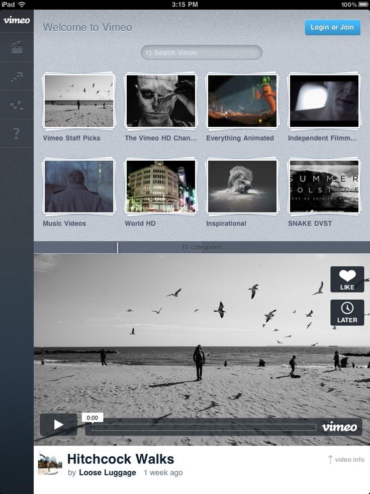 Vimeo App Nav