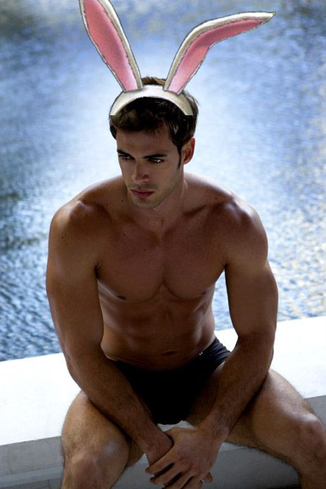 William Levy bunny ears