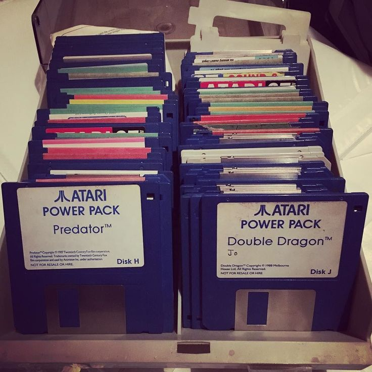 On instagram by jordan_littler #atarist #microhobbit (o) http://ift.tt/1pXwSKP very floppy...  #games #vintagegames