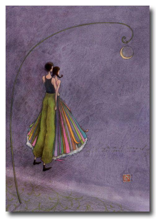 BOISSONNARD Les amoureux au clair de lune