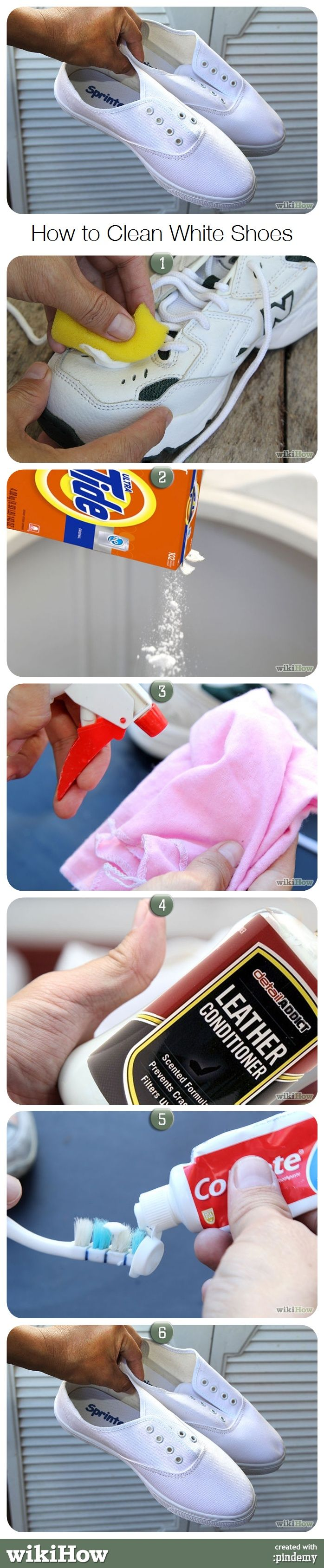 How to clean white shoes. #soap #polish #cleaning