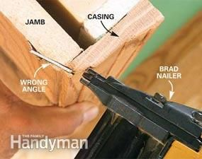 Avoid common mistakes with a pneumatic nail gun.
