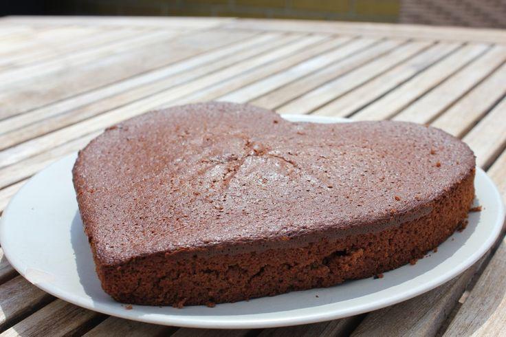 Brun kage med kokospalmesukker og groft mel. Prøv den!
