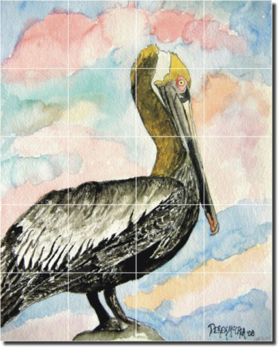 McCrea Pelican Bird Art Home Decor Ceramic Tile Mural | eBay