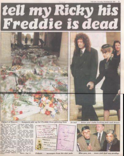Freddie Mercury Funeral