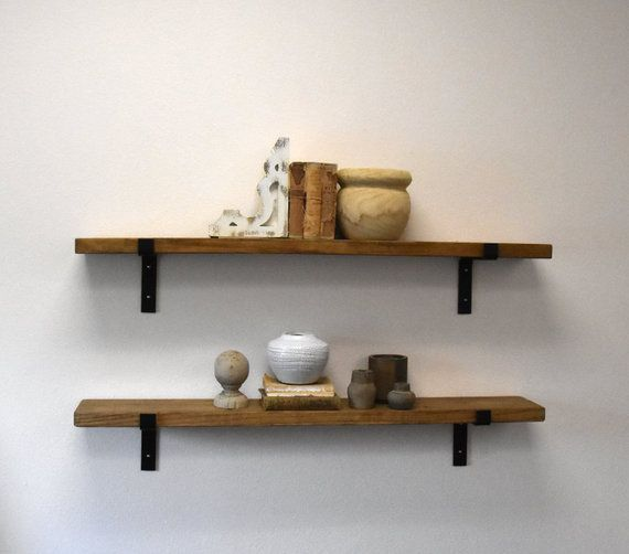 Extra Long 10 Deep Industrial Floating Shelf With Flat Steel L
