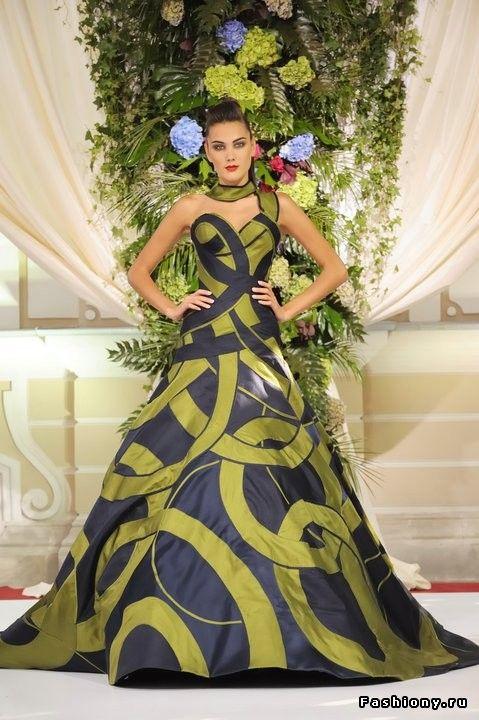Валентин Юдашкин Haute couture осень-зима 2011-2012 / платье от юдашкина