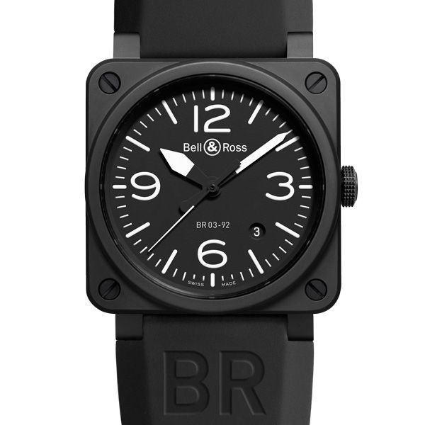 Bell & Ross BR 03-92 Carbon Ceramic THE CERAMIC INSTRUMENT WATCH - FROM THE COCKPIT TO THE WRIST (See more at En/Fr/Es: http://watchmobile7.com/articles/bell-ross-br-03-92-carbon-ceramic) #watches #montres #relojes #bellandross @Christabelle Clip Clip Clip Clip Clip Lavarro C & Ross
