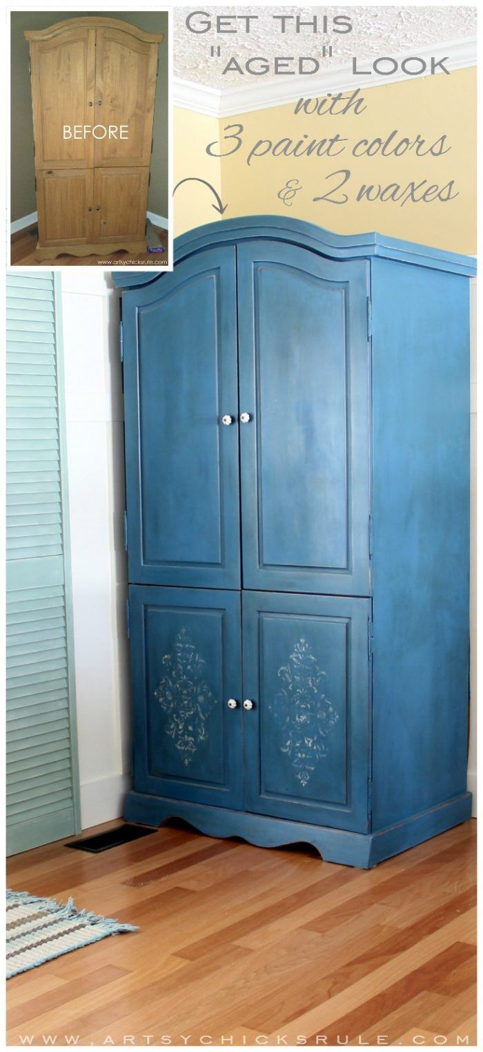 Armoire Transformed Twice Finishing Up With Chalk Paint Painted Bedroom Furniture Upcycled Furniture Diy Diy Furniture Chair