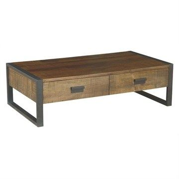 Loft Mango Wood  2 Drawers Coffee Table