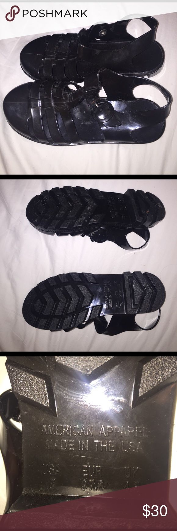 Black jelly sandals american apparel - Jelly Shoes Rarely Worn Jelly Shoes Adjustable Willing To Trade Negotiate American Apparel