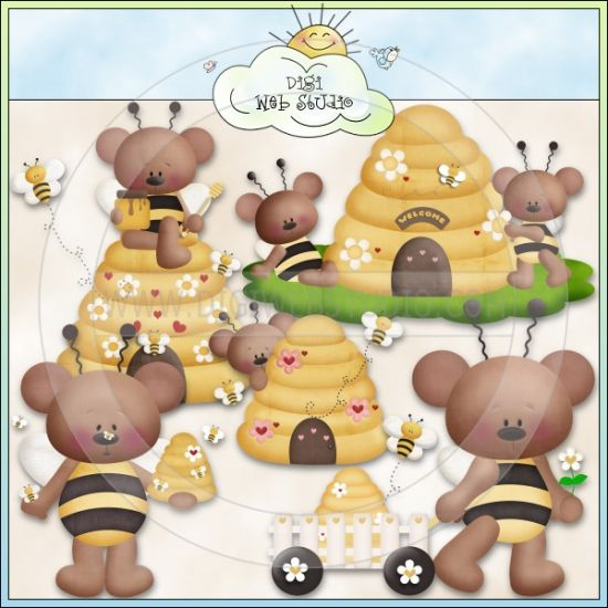 Barry Bee 1 - NE Kristi W. Designs Clip Art : Digi Web Studio, Clip Art, Printable Crafts & Digital Scrapbooking!